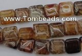 CAG1471 15.5 inches 10*10mm square dragon veins agate beads