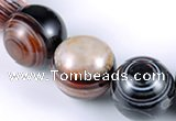 CAG149 20mm smooth round madagascar agate stone beads Wholesale