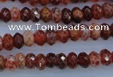 CAG1491 15.5 inches 5*8mm faceted rondelle natural fire agate beads
