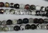 CAG1503 15.5 inches 6mm faceted round fire crackle agate beads