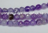 CAG1514 15.5 inches 8mm faceted round fire crackle agate beads