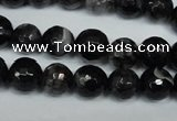 CAG1524 15.5 inches 10mm faceted round fire crackle agate beads