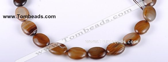 CAG154 15*20mm oval madagascar agate gemstone beads Wholesale