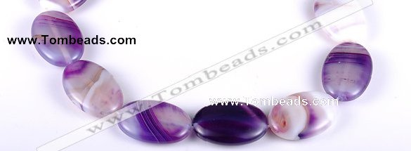 CAG157 20*30mm oval madagascar agate gemstone beads Wholesale