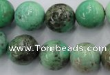 CAG1600 15.5 inches 16mm round green grass agate gemstone beads