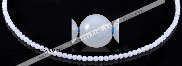 CAG162 Smooth round 4mm blue lace agate gemstone beads wholesale