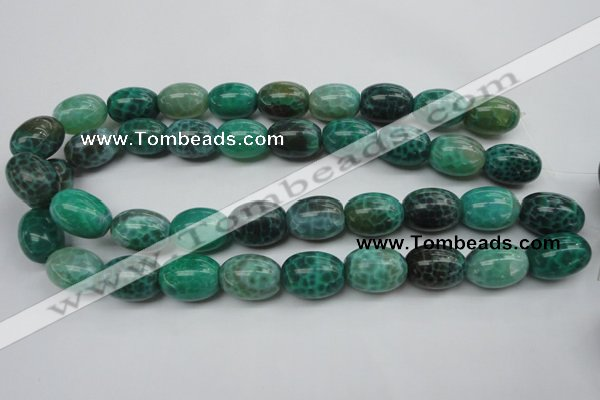 CAG1621 15.5 inches 15*20mm egg-shaped peafowl agate gemstone beads