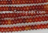 CAG1645 15.5 inches 3*6mm rondelle red agate gemstone beads