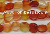 CAG1651 15.5 inches 11*12mm heart red agate gemstone beads