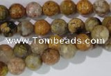 CAG1712 15.5 inches 8mm faceted round rainbow agate beads