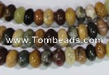CAG1720 15.5 inches 5*8mm rondelle rainbow agate beads wholesale