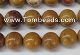 CAG1745 15.5 inches 12mm round golden agate beads wholesale