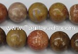 CAG1747 15.5 inches 16mm round golden agate beads wholesale