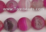 CAG1862 15.5 inches 16mm round matte druzy agate beads whholesale