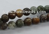 CAG1916 15.5 inches 8mm round green magic agate beads wholesale