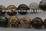 CAG1918 15.5 inches 12mm round green magic agate beads wholesale