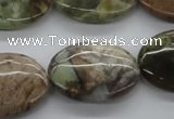 CAG1941 15.5 inches 18*25mm oval green magic agate beads