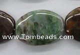 CAG1942 15.5 inches 22*30mm oval green magic agate beads
