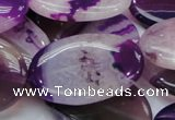 CAG202 15.5 inches 25*35mm oval purple agate gemstone beads