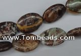CAG2022 15.5 inches 12*16mm oval rainbow agate beads wholesale