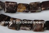 CAG2048 15.5 inches 12*12mm square rainbow agate beads wholesale