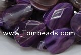 CAG206 15.5 inches 10*20mm faceted teardrop purple agate beads