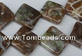 CAG2068 15.5 inches 16*16mm diamond rainbow agate beads wholesale