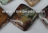 CAG2072 15.5 inches 25*25mm diamond rainbow agate beads wholesale