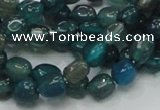CAG212 15.5 inches 6*8mm freeform blue agate gemstone beads