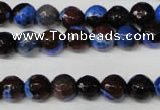 CAG2232 15.5 inches 8mm faceted round fire crackle agate beads
