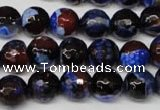 CAG2233 15.5 inches 10mm faceted round fire crackle agate beads