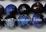 CAG2236 15.5 inches 16mm faceted round fire crackle agate beads