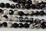CAG2241 15.5 inches 6mm faceted round fire crackle agate beads