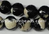 CAG2246 15.5 inches 16mm faceted round fire crackle agate beads