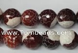 CAG2256 15.5 inches 16mm faceted round fire crackle agate beads