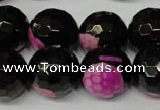 CAG2267 15.5 inches 18mm faceted round fire crackle agate beads