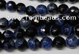 CAG2272 15.5 inches 8mm faceted round fire crackle agate beads