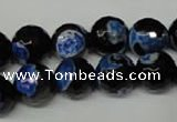 CAG2277 15.5 inches 18mm faceted round fire crackle agate beads