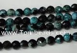 CAG2281 15.5 inches 6mm faceted round fire crackle agate beads
