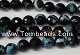 CAG2282 15.5 inches 8mm faceted round fire crackle agate beads