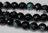 CAG2283 15.5 inches 10mm faceted round fire crackle agate beads