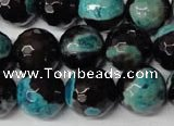 CAG2287 15.5 inches 18mm faceted round fire crackle agate beads