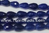 CAG2302 15.5 inches 8*12mm faceted teardrop agate gemstone beads