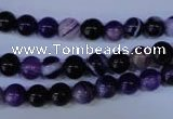 CAG2331 15.5 inches 6mm round violet line agate beads wholesale