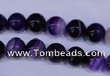 CAG2332 15.5 inches 8mm round violet line agate beads wholesale