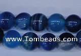 CAG2344 15.5 inches 12mm round blue line agate beads wholesale