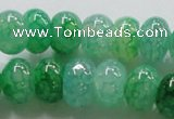 CAG242 13.5 inches 10*14mm rondelle green dragon veins agate beads