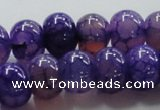 CAG243 13.5 inches 10*14mm rondelle violet dragon veins agate beads