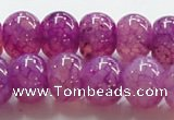 CAG245 13.5 inches 10*14mm rondelle purple dragon veins agate beads