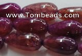 CAG251 15.5 inches teardrop 13*28mm dragon veins agate beads
